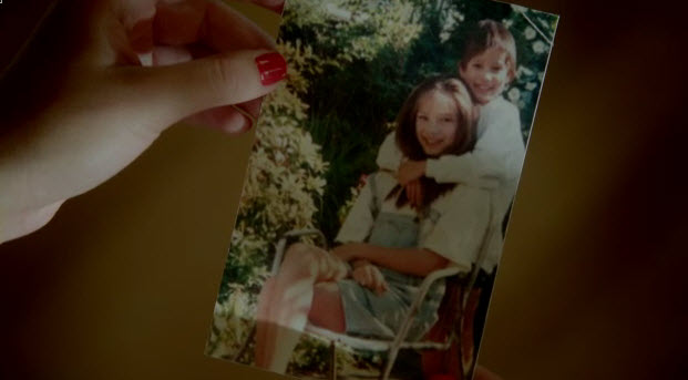 that an actual photo of kristin kreuk as a kid christine i think it is